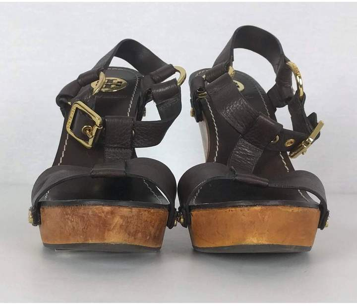 Tory Burch- Leather Wedge Heels Sz 8.5