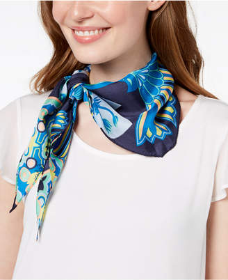 Echo Tiger Lily Silk Diamond Bandana Scarf