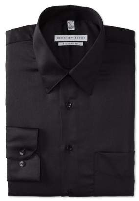 Geoffrey Beene Mens Dress Shirts Regular Fit Solid Sateen
