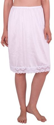 Under Moments Women's Half Slip with Lace Details, Anti- Static