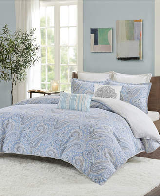Echo Bukhara Twin 2 Piece Reversible Cotton Duvet Cover Set Bedding