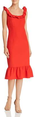 Nanette Lepore nanette Sleeveless Ruffle-Trim Dress