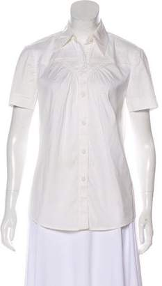 Trina Turk Short Sleeve Collared Top