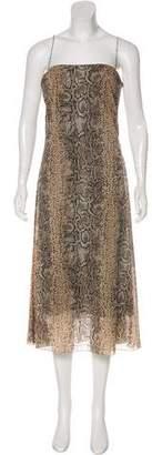 Dolce & Gabbana Animal Print Silk Dress
