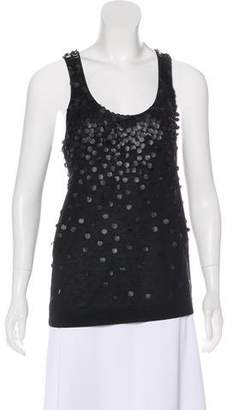 Club Monaco Sleeveless Embellished Top