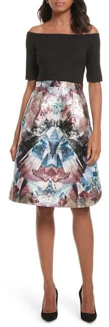 Ted Baker Keris Mirrored Minerals Tulip Fit & Flare Dress