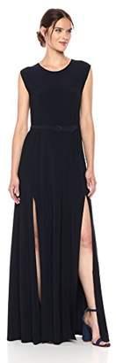 Norma Kamali Women's Sleeveless Elephant Dress with Skinny Belt