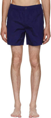 Free Express Shipping at SSENSE · Moncler Blue Dolmias Beach Swim Shorts