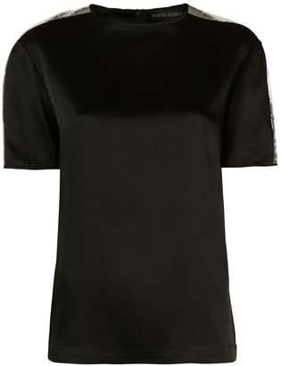 David Koma sequin shoulder T-shirt