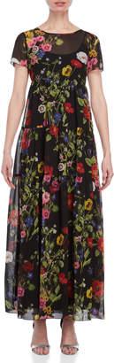 Blugirl Short Sleeve Floral Maxi Dress