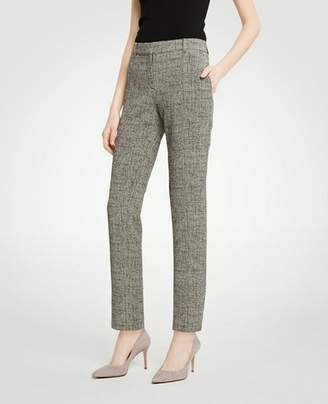 Ann Taylor The Petite Ankle Pant In Crosshatch - Curvy Fit