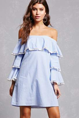Forever 21 Striped Tiered Ruffle Dress