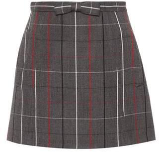 Miu Miu Check wool miniskirt