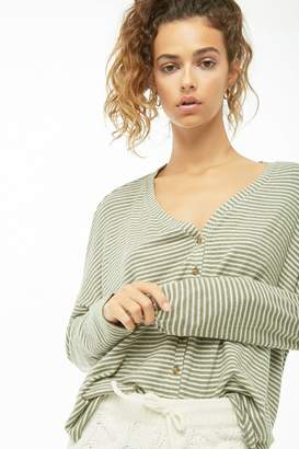 Forever 21 Striped High-Low Cardigan