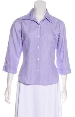 Thomas Pink Three-Quarter Sleeve Button-Up Top