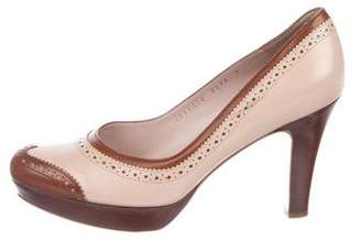 Salvatore Ferragamo Brogue Round-Toe Pumps