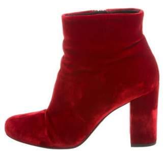 Saint Laurent Velvet Ankle Boots Velvet Ankle Boots