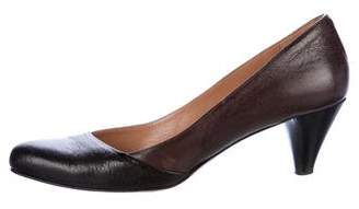 Max Mara Leather Pointed-Toe Pumps
