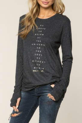 Spiritual Gangster As Above So Below L/S Top