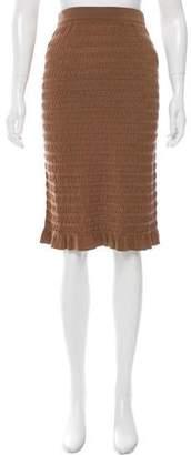 Nina Ricci Silk Knee-Length Skirt