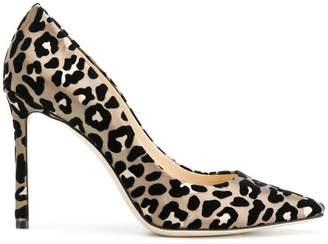 ea2353526ee ... clearance at farfetch jimmy choo romy 100 leopard print pumps c3f98  3a9e8