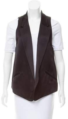 Alexander Wang Open-Front Satin Vest w/ Tags