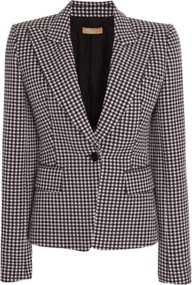 Michael Kors Gingham Cotton-Wool Blazer