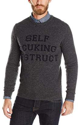 French Connection Men's Self Fcuking Destruct Sweater
