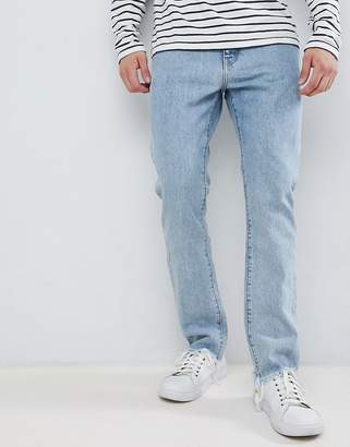 Weekday Sharp Slim Rigid Fit Jeans Lagoon Blue Wash