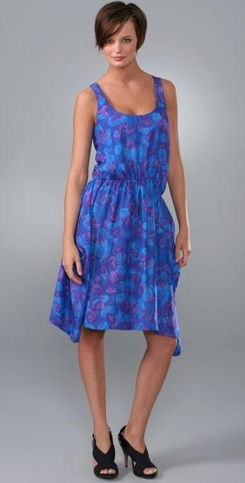 Thakoon Thakoon Addition Falling Petals Draped Pocket Dress