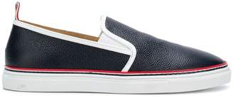 Thom Browne contrast slip-on sneakers