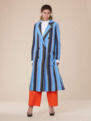 Diane von Furstenberg Long-Sleeve Floor-Length Jacket