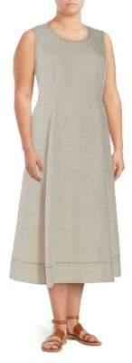 Lafayette 148 New York Plus Carressa Linen Dress