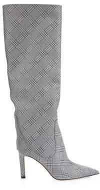 Jimmy Choo Mavis Plaid Tall Leather Boots