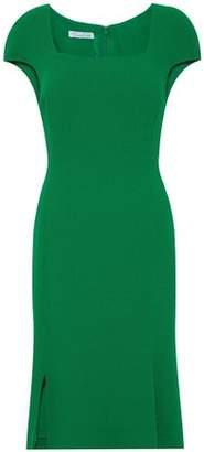 Oscar de la Renta Fluted Wool-Crepe Dress