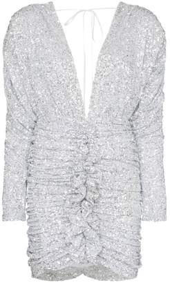 ATTICO Sequin-embellished ruched mini-dress