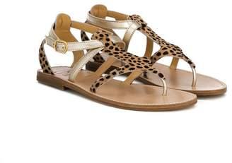 Gallucci Kids animal print flat sandals