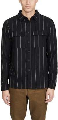 NATIVE YOUTH Furrow Yarn Dyed Striped Shirt