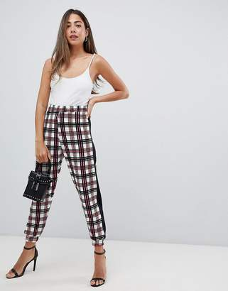 Asos Design DESIGN sweatpants in pink check