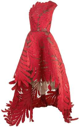 Oscar de la Renta asymmetric embroidered gown