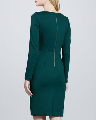 Trina Turk Sutherland Fitted Crepe Dress