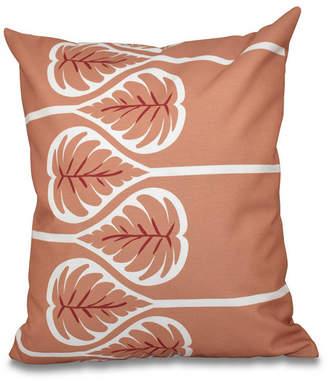 E By Design Fern 1 16 Inch Orange Decorative Floral Throw Pillow