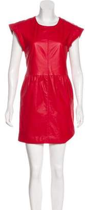 Rachel Zoe Leather Mini Dress