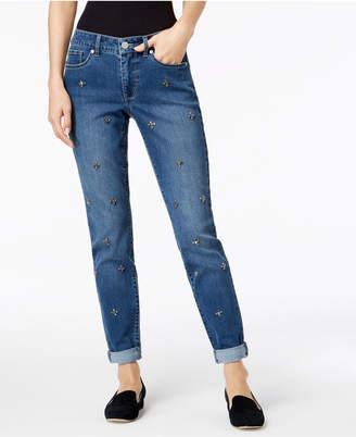 Maison Jules Stud-Embellished Jeans