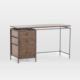 west elm Modern Industrial Metal + Wood Writing Desk
