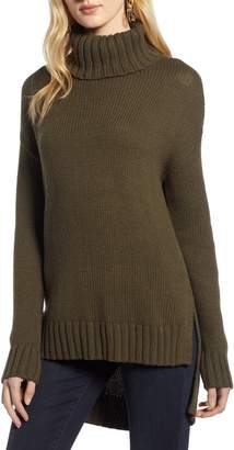 Halogen High/Low Turtleneck Sweater