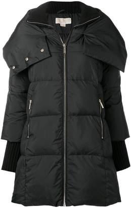 Michael Kors oversized collar padded coat