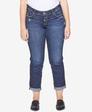 Silver Jeans Co. Plus Size Sam Boyfriend-Fit Jeans