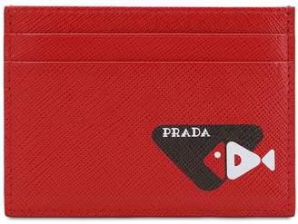 59b9c1b7d7f6 Prada Printed Saffiano Leather Card Holder