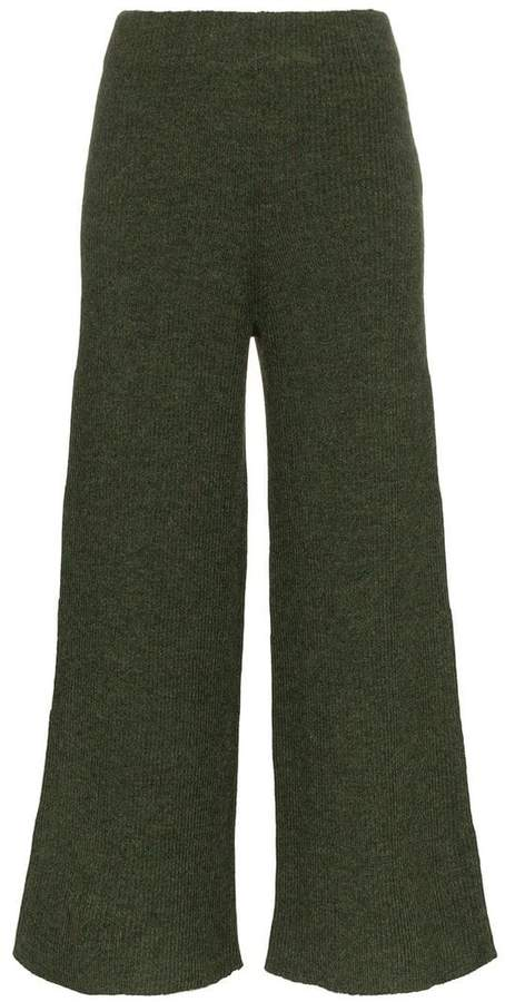 Nellie knitted wide leg alpaca trousers
